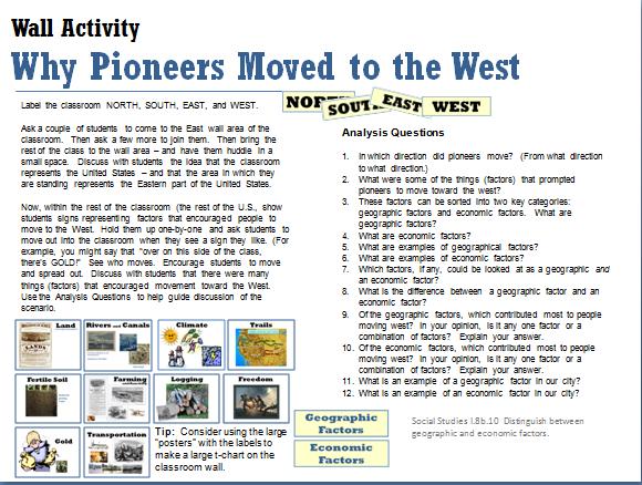 Western Expansion Debs Data Digest – Westward Expansion Worksheets