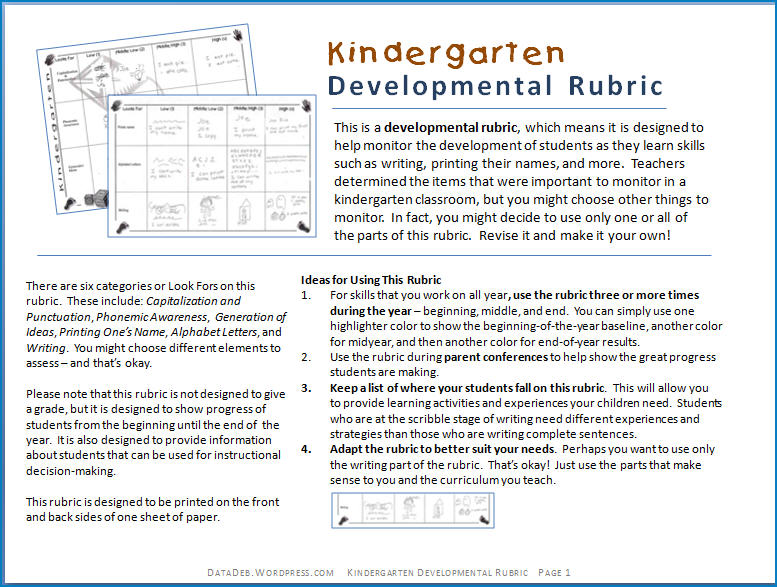 mlpp writing assessment kindergarten